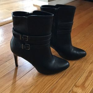 Express faux leather booties